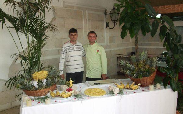 Croatie Formation Hotel Solaris Buffet Fruit et Légume - Frederic Jaunault MOF Primeur Fruits Legumes