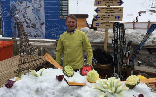 Semaine de la Gastronomie Almaty - Frederic Jaunault Meilleur Ouvrier France Primeur Fruits Legumes