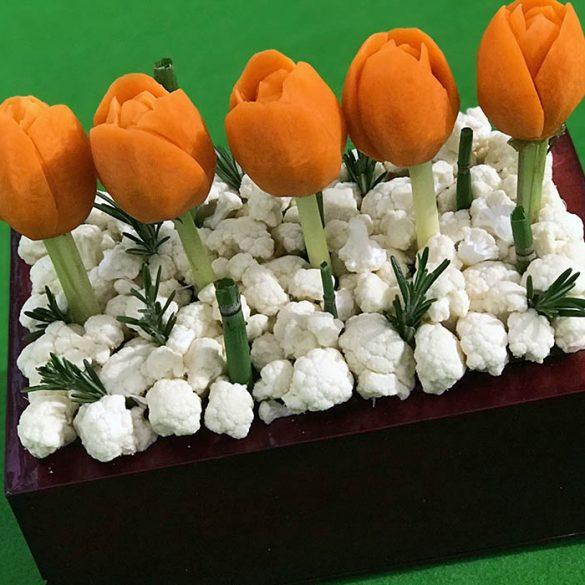 Sculpture 9 Tulipe - Frederic Jaunault MOF primeur Fruits Legumes