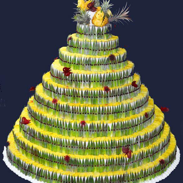 Sculpture Pièce montée Ananas - Frederic Jaunault MOF primeur Fruits Legumes