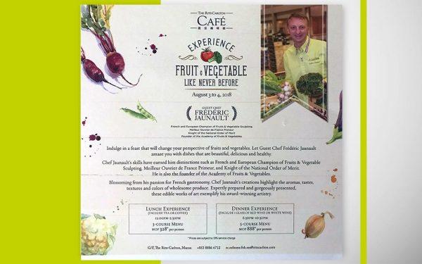 Macao Diner de Gala Ritz Carlton - Frederic Jaunault Fruits Legumes