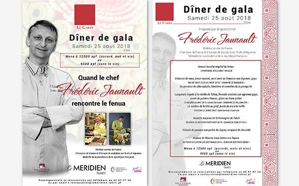 Tahiti Diner de Gala - Frederic Jaunault MOF Primeur Fruits Legumes