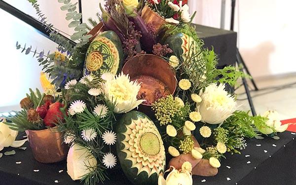 Cambodge Pièce inaugurale - Frederic Jaunault Meilleur Ouvrier France Primeur Fruits Legumes