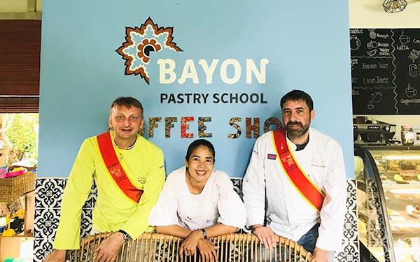 Cambodge Visite d'une école de patisserie - Frederic Jaunault Meilleur Ouvrier France Primeur Fruits Legumes