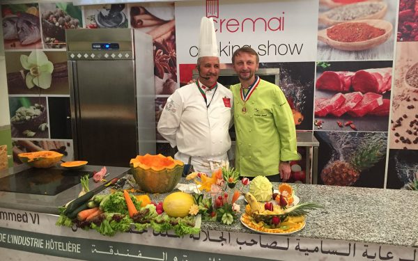 Maroc Marakech Demonstration TV - Frederic Jaunault Fruits Legumes
