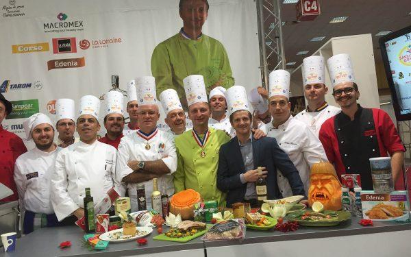 Roumanie Démonstration Culinaire - Frederic Jaunault MOF Primeur Fruits Legumes