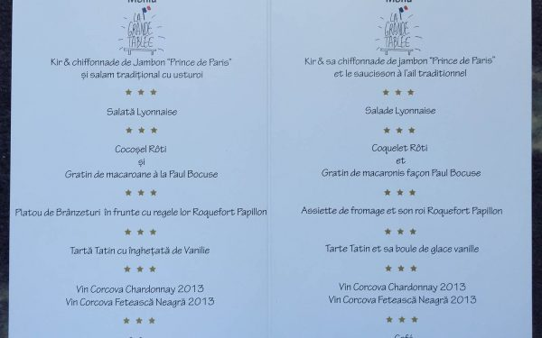 Roumanie Grande Table Menu - Frederic Jaunault MOF Primeur Fruits Legumes