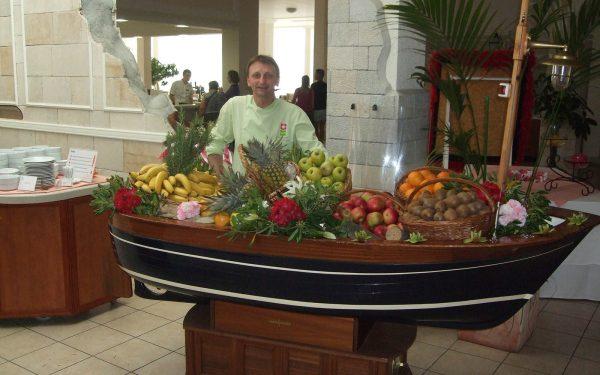 Croatie Hotel Solaris Buffet Fruit et Légume - Frederic Jaunault MOF Primeur Fruits Legumes