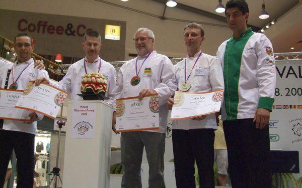Prague Jury Concours Sculpture Championnat d'Europe - Frederic Jaunault Meilleur Ouvrier France Primeur Fruits Legumes