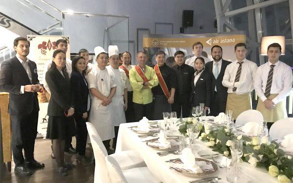 Kazakhstan équipes Hotel Marriott - Frederic Jaunault Meilleur Ouvrier France Primeur Fruits Legumes
