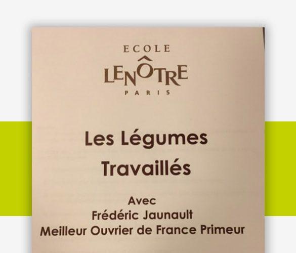 Header Actu École Lenotre - Frederic Jaunault MOF Primeur Fruits Legumes