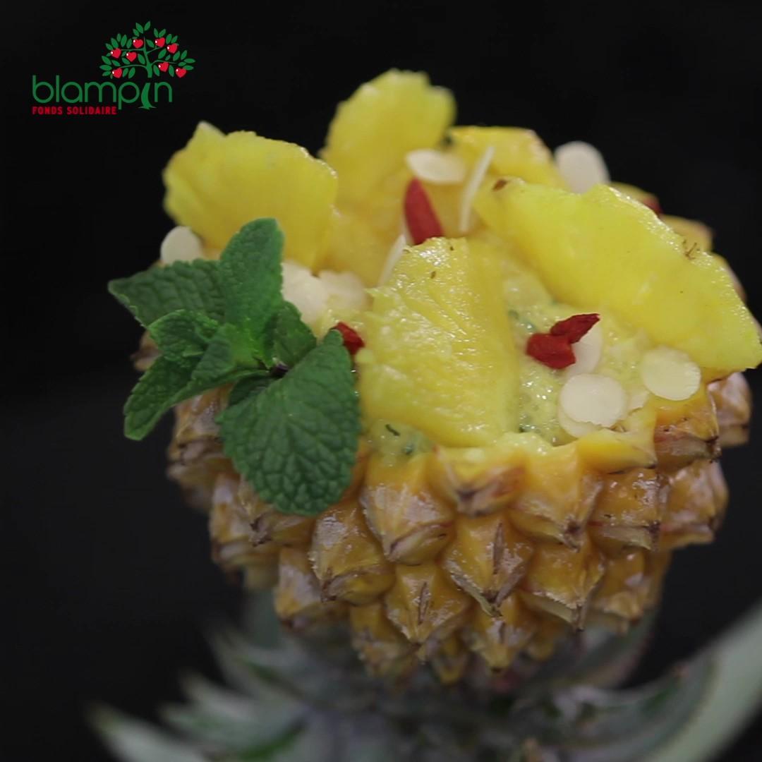 Recette Curry d'Ananas et son tapioca - Frederic Jaunault MOF primeur Fruits Legumes