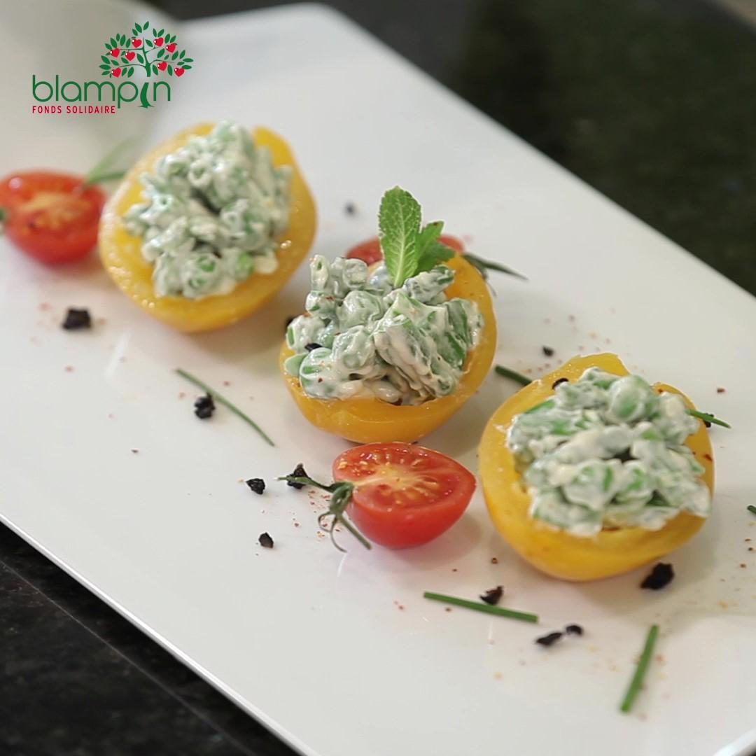 Recette Tomates farcies en verdurette - Frederic Jaunault MOF primeur Fruits Legumes