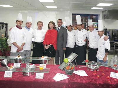 Diner de Gala Jordanie - Frederic Jaunault MOF Primeur Fruits Legumes