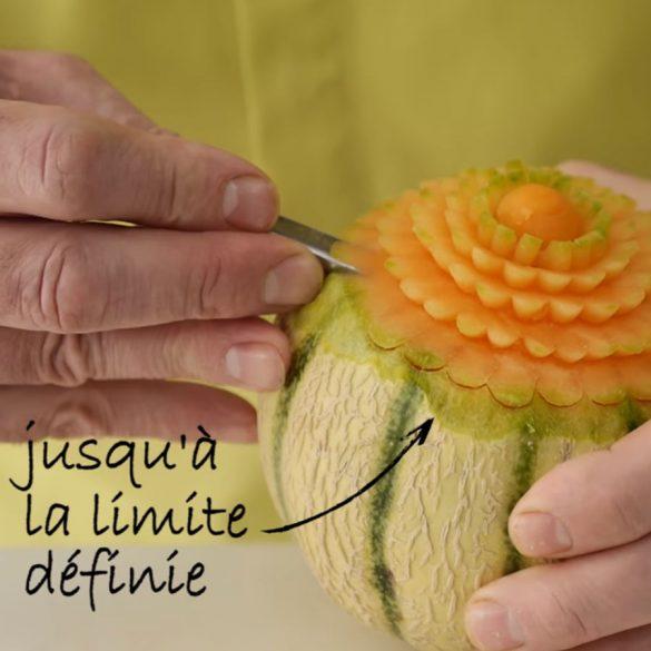 Formation Sculpture Bol Melon - Frederic Jaunault MOF Primeur Fruits Legumes