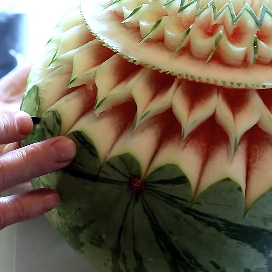 Sculpture Pastèque - Frederic Jaunault MOF Primeur Fruits Legumes