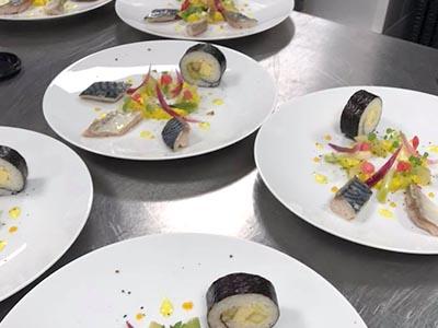 Dejeuner Palais Brongniart assiettes - Frederic Jaunault Fruits Légumes