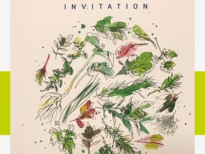 Inauguration Le Potager Urbain carton invitation - Frederic Jaunault Fruits Légumes
