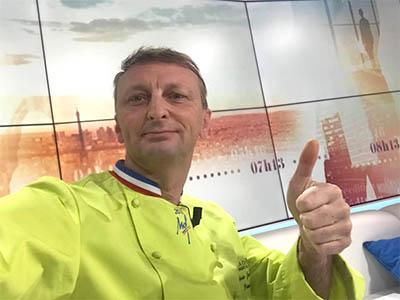 Plateau BFMTV Emission Bien cuisiner les légumes d'hiver - Frederic Jaunault Fruits Légumes