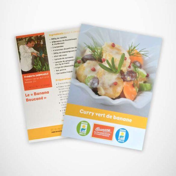 Développement produit Recette avec banane Française - Frederic Jaunault Fruits Legumes