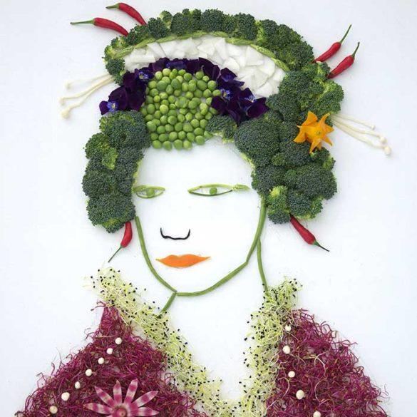Création culinaire Femme Chinoise en legumes - Frederic Jaunault MOF Primeur Fruits Legumes