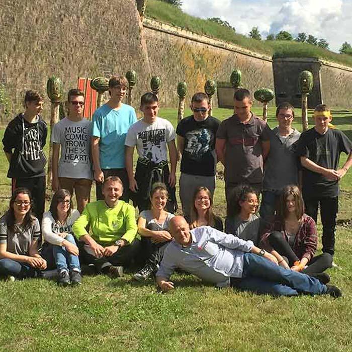 Évènement Travail avec école d'handicap neuf Brisah Festival Land Art - Frederic Jaunault MOF primeur Fruits Legumes