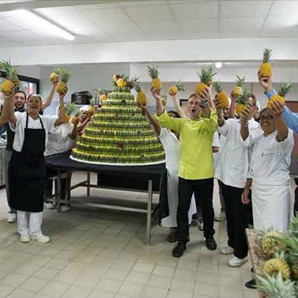 Évènement Pièce Créative de 2mètres avec AFPAR Île-de-la-Réunion - Frederic Jaunault MOF primeur Fruits Legumes