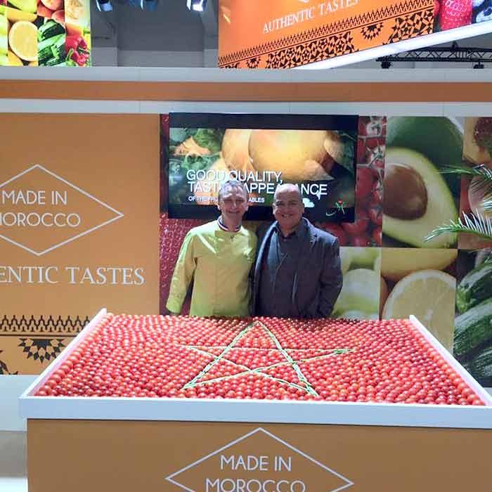 Évènement Fruit Logistica Berlin Création pour le Maroc - Frederic Jaunault MOF primeur Fruits Legumes