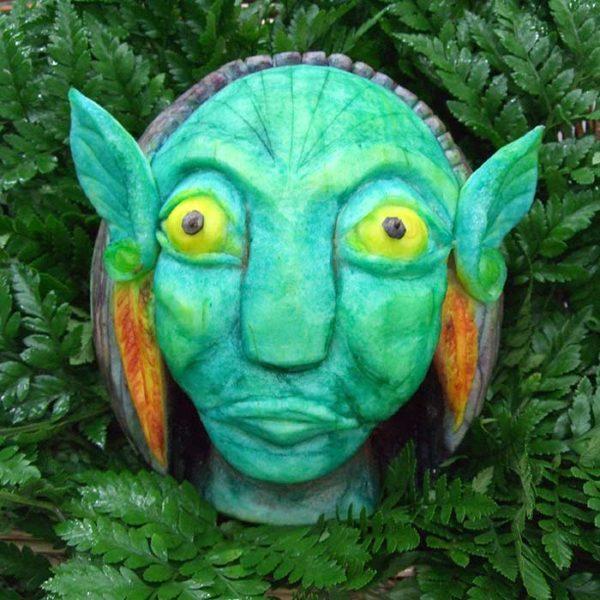 Sculpture Sortie du film Avatar - Frederic Jaunault MOF primeur Fruits Légumes