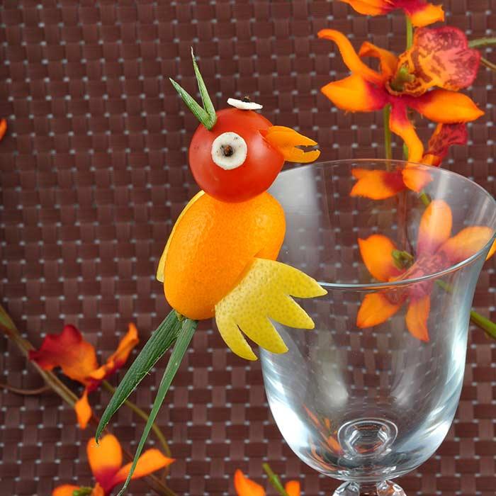 Sculpture Formation Barman Décor verre - Frederic Jaunault MOF primeur Fruits Légumes