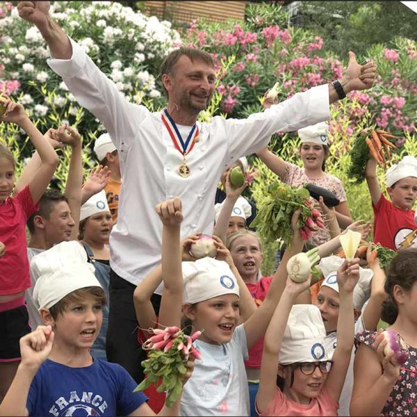 Évènement Cours avec les enfants Mougins - Frederic Jaunault MOF primeur Fruits Legumes