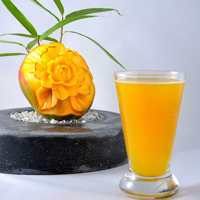Création culinaire Emulsion Golden Mangue - Frederic Jaunault MOF Primeur Fruits Legumes