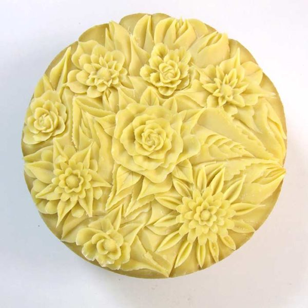 Sculpture Rose gouge arrondie - Frederic Jaunault MOF primeur Fruits Légumes