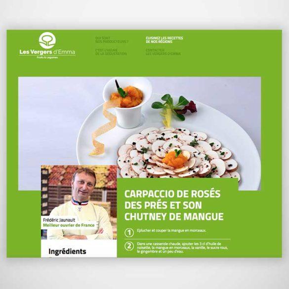 Développement produit Verger D'Emma - Frederic Jaunault Fruits Legumes
