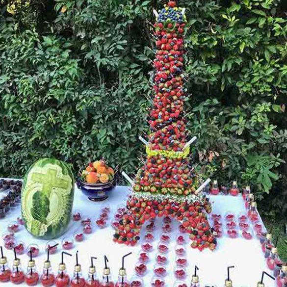 Évènement Buffet Ambassade de France Saint siège de Rome - Frederic Jaunault MOF primeur Fruits Legumes