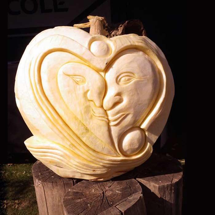 Sculpture Potiron de 220kg Mothe Achard - Frederic Jaunault MOF primeur Fruits Légumes