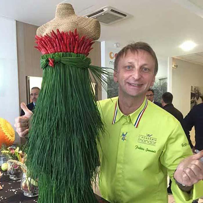 Évènement Fashion Week Inauguration - Frederic Jaunault MOF primeur Fruits Legumes