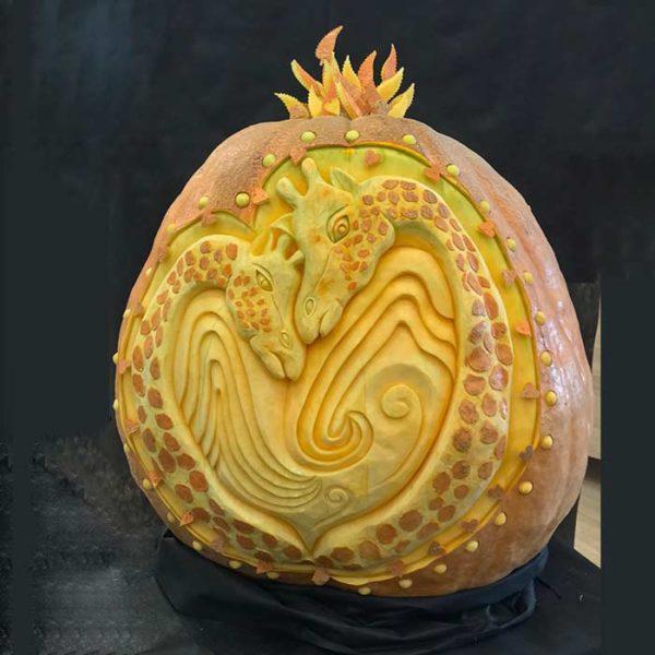 Sculpture Décoration de potiron - Frederic Jaunault MOF primeur Fruits Légumes