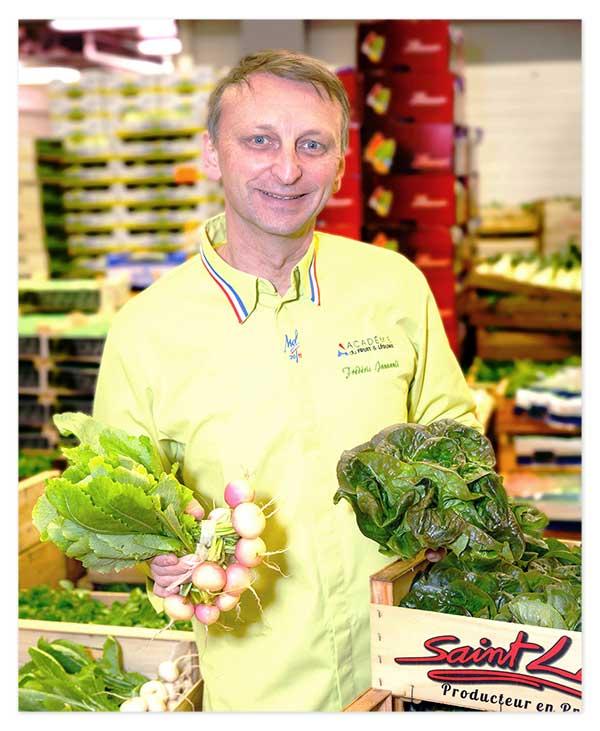 Portrait Frederic Jaunault Meilleur Ouvrier France Primeur Fruits Légumes